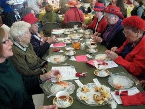 Ladies at the Autumn Tea at the Museum.